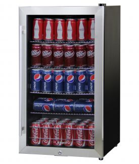Enlarge Kegco CBC-303-SSC 121 Can Beverage Center with Stainless Steel Trim Door with Lock