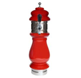 Enlarge Silva Ceramic Single Faucet Draft Beer Tower - Red with Chrome Accents