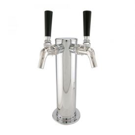 Enlarge Double Faucet Stainless Draft BeerTower w/ Perlick 575SS Creamer Faucets