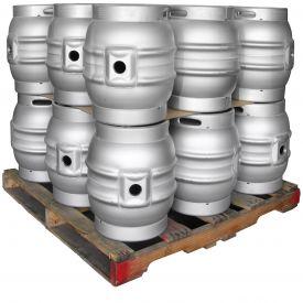 Enlarge Pallet of 18 Kegco MK-K9G-CASK Kegs - Brand New 10.8 Gallon Firkin Cask Beer Keg