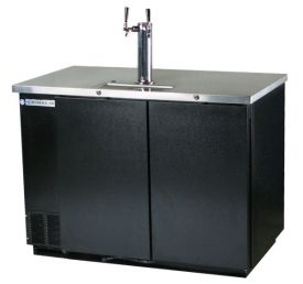 Enlarge Beverage-Air Kegerator DD50-B Two Keg Beer Cooler - Black Vinyl