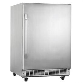 Enlarge Danby DOAR154BLSST Silhouette 5.4 Cu Ft Outdoor Rated Refrigerator - Stainless Cabinet with Stainless Steel Door