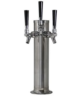 Enlarge D4743TTSS -  Polished Stainless Steel 3-Faucet Beer Tower - 3