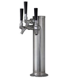 Enlarge Stainless Steel Triple Tap Faucet Draft Beer Kegerator Tower - 100% Stainless Steel Contact