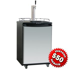 Enlarge Danby DBF163SS-1 Kegerator Full Size Beer Cooler with Stainless Steel Door