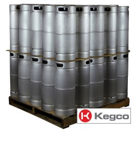 Enlarge Pallet of 50 Kegco MK-K5G-DDI Kegs - 5 Gallon Commercial Keg with Micromatic Drop-In D System Sankey Valve