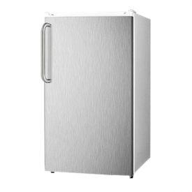 Enlarge Summit FF41ESSSTB White 3.6 cf Refrigerator - SS Door/Towel Bar Handle