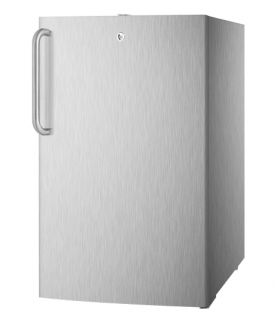 Enlarge Summit FF521BLCSS 4.1 cf Undercounter Built-in Refrigerator - Stainless Steel