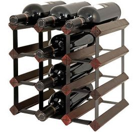 Enlarge Bordex 12 Bottle Wine Rack - Cherry Finish