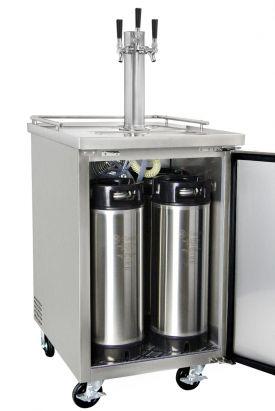 Kegco Commercial Grade Homebrew Kegerator Triple Tap Keg