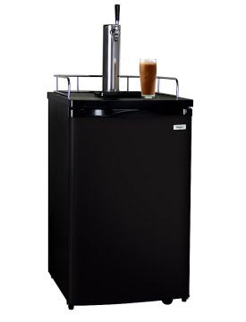 Enlarge Kegco ICK19B-1 Javarator Cold-Brew Coffee Dispenser with Black Cabinet and Door