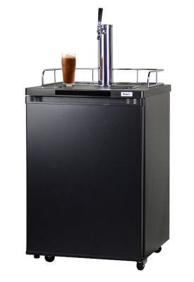 Enlarge Kegco ICK20B-1 Javarator Cold-Brew Coffee Dispenser with Black Cabinet and Door