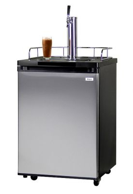 Enlarge Kegco ICK20S-1 Javarator Cold-Brew Coffee Dispenser with Black Cabinet and Stainless Steel Door