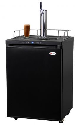 Enlarge Kegco ICK30B-1 Digital Javarator Cold-Brew Coffee Dispenser - Black Cabinet with Matte Black Door