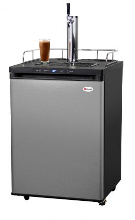 Enlarge Kegco ICK30S-1 Digital Javarator Cold-Brew Coffee Dispenser - Black Cabinet with Stainless Steel Door