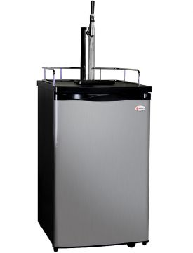 Enlarge Kegco K199SS-G Guinness® Dispensing Kegerator with Black Cabinet and Stainless Steel Door