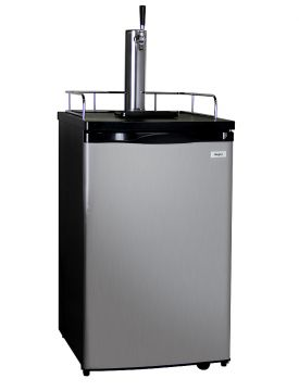 Enlarge Kegco K199SS-1 Full Size Kegerator with Black Cabinet and Stainless Steel Door
