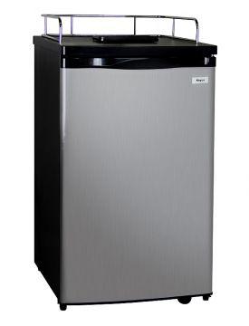 Enlarge Kegco K199SS-01 Kegerator Cabinet Only - Black Cabinet and Stainless Steel Door