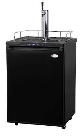 Enlarge Kegco K309B-1 Full Size Digital Kegerator - Black Cabinet with Matte Black Door