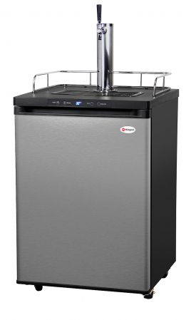 Enlarge Kegco KOM30S-1 Digital Kombucha Keg Cooler - Black Cabinet with Stainless Steel Door