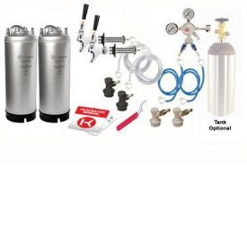 Enlarge Kegco Two Keg Door Mount Homebrew Kegerator Kit Ball Lock - New Kegs