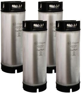 Enlarge Kegco Kombucha Kegs - Ball Lock 5 Gallon Rubber Top - Brand New - Set of 4