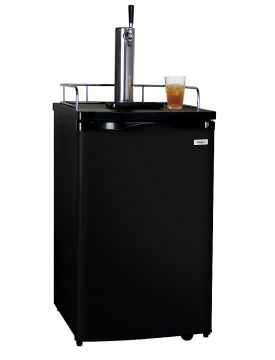 Enlarge Kegco KOM19B-1 Kombucha Dispenser with Black Cabinet and Door
