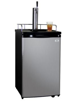 Enlarge Kegco KOM19S-1 Kombucharator with Black Cabinet and Stainless Steel Door