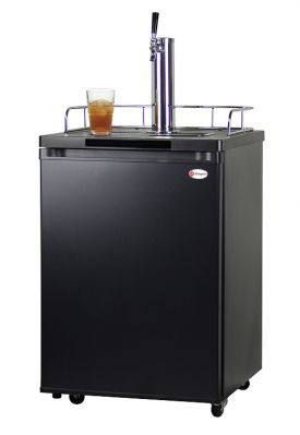 Enlarge Kegco KOM20B-1 Kombucha Keg Cooler with Black Cabinet and Door