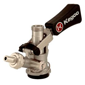 Enlarge Keg Tap Beer Coupler D System Ergonomic Lever Handle Stainless Steel Probe - Kegco KTS97D-W