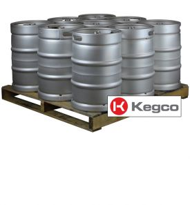 Enlarge Pallet of 9 Kegco HS-K15.5G-DDI Kegs - 15.5 Gallon (1/2 Barrel) Commercial Keg - Drop-In D System Valve