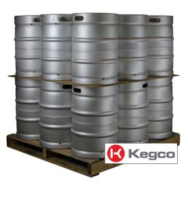 Enlarge Pallet of 18 Kegco HS-K15.5G-DDI Kegs 15.5 Gallon (1/2 Barrel) Commercial Keg - Drop-In D System Valve