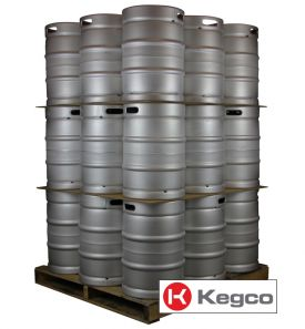 Enlarge Pallet of 27 Kegco HS-K15.5G-DTHRDI Kegs -  15.5 Gallon (1/2 Barrel) Commercial Keg - Threaded Sankey D System Valve
