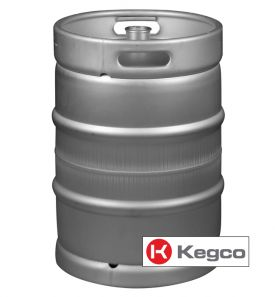 Enlarge Kegco HS-K15.5G-DDI Keg 15.5 Gallon (1/2 Barrel) Commercial Kegs - Drop-In D System Sankey Valve