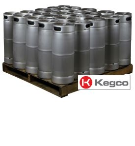Enlarge Pallet of 25 Kegco HS-K5G-DTH Kegs - 5 Gallon Commercial Keg with Threaded D System Valve