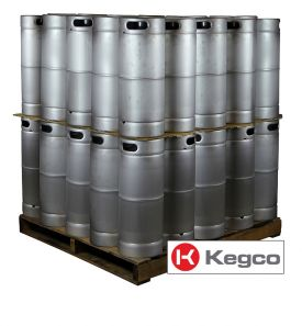 Enlarge Pallet of 50 Kegco HS-K5G-DDI Kegs - 5 Gallon Commercial Keg with Drop-In D System Valve