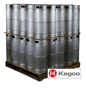 Enlarge Pallet of 50 Kegco HS-K5G-DDI Kegs - 5 Gallon Commercial Keg with Drop-In D System Sankey Valve
