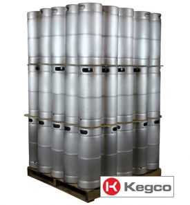 Enlarge Pallet of 75 Kegco brand new 5 Gallon Commercial Kegs - Threaded D System Valve