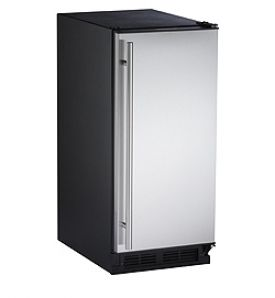 Enlarge U-Line 1115RS-01 1000 Series Black Cabinet with Stainless Steel 3.0 Cu. Ft. Refrigerator - Left Hinge