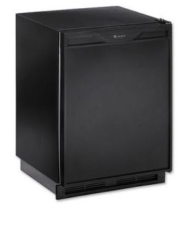 Enlarge U-Line 1175RB-13 1000 Series 5.3 cf Refrigerator - Black Cabinet with Black Door - Lock Model