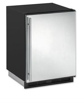 Enlarge U-Line 1175RS-01 1000 Series 5.3 cf Refrigerator - Black Cabinet with Stainless Steel Door - Left Hinge