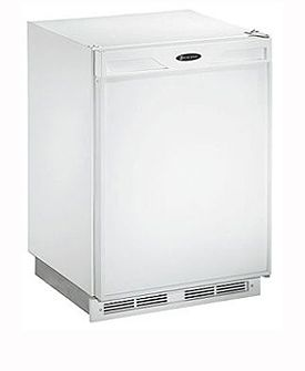 Enlarge U-Line 1175RW-13 1000 Series 5.3 cf Refrigerator - White Cabinet with White Door - Right Hinge - Lock Model