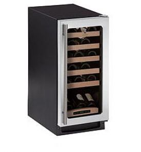 Enlarge U-Line 2000 Series 2115WCS-00 24 Bottle Built-in Wine Refrigerator - Black Cabinet and Stainless Steel Door
