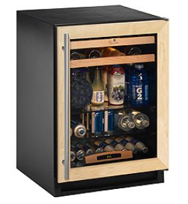 Enlarge U-Line 2175BEVCOL-60 Beverage Center - Solid Wood Panel Overlay