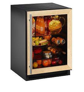 Enlarge U-Line 2175RCGOL-00 5.4 Cu. Ft. Refrigerator - Black Cabinet with Custom Overlay Door
