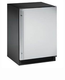 Enlarge U-Line 2175RCS-01 2000 Series 5.2 Cu. Ft. Refrigerator - Black Cabinet with Stainless Steel Door - Left Hinge