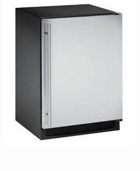 Enlarge U-Line 2175RCS-00 2000 Series 5.2 Cu. Ft. Refrigerator - Black Cabinet with Stainless Steel Door - Right Hinge