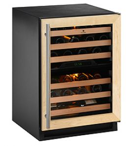 Enlarge U-Line 2275ZWCOL-00 Wine Captain Dual Zone 43 Bottle Wine Cellar - Full Overlay Frame