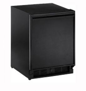 Enlarge U-Line 29RB-13 3.3 cf Built-in Refrigerator w/Lock - Black Cabinet with Black Door - Right Hinge
