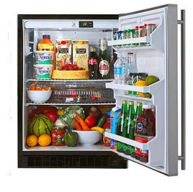 Enlarge Showroom Clearance - Marvel 61AR-BS-F Built-in All Refrigerator - Black Cabinet / Stainless Steel Door